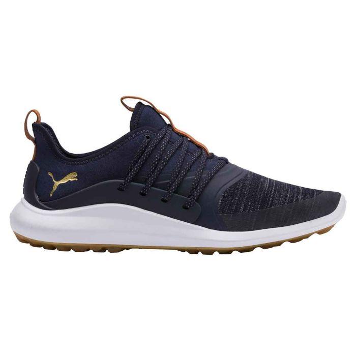 Puma Ignite NXT Solelace Golf Shoes Peacoat/Gold