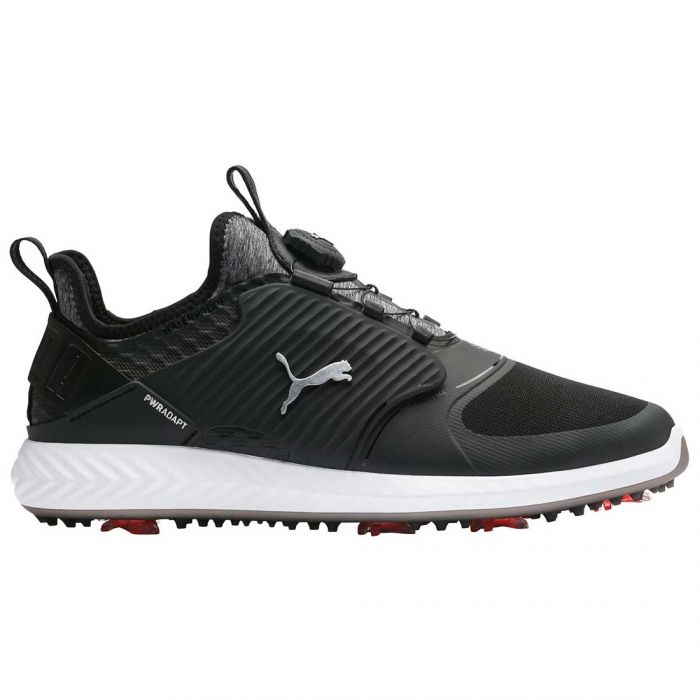 Puma Ignite PWRADAPT Caged Disc Golf Shoes Black/Silver