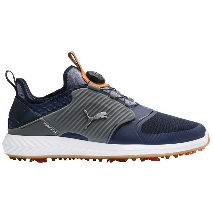 Puma Ignite PWRADAPT Caged Disc Golf Shoes Peacoat/Silver
