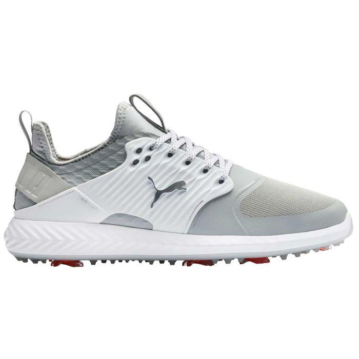 Buy Puma Ignite Pwradapt Caged Golf Shoes Grey Violet Silver Golf Discount