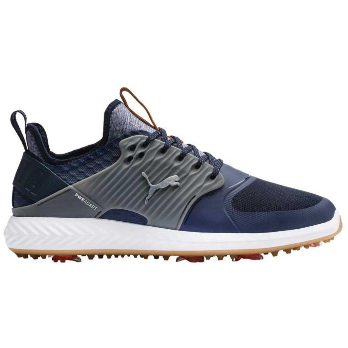Puma Ignite PWRADAPT Caged Golf Shoes Peacoat/Silver