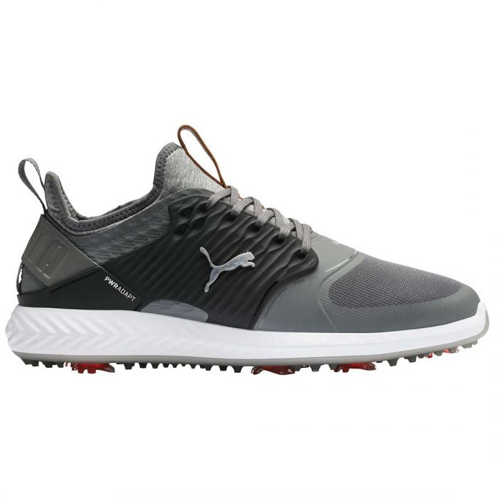 Puma Ignite PWRADAPT Caged Golf Shoes Quiet Shade/Silver