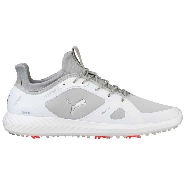 Puma Ignite PWRADAPT Golf Shoes White/Grey Violet