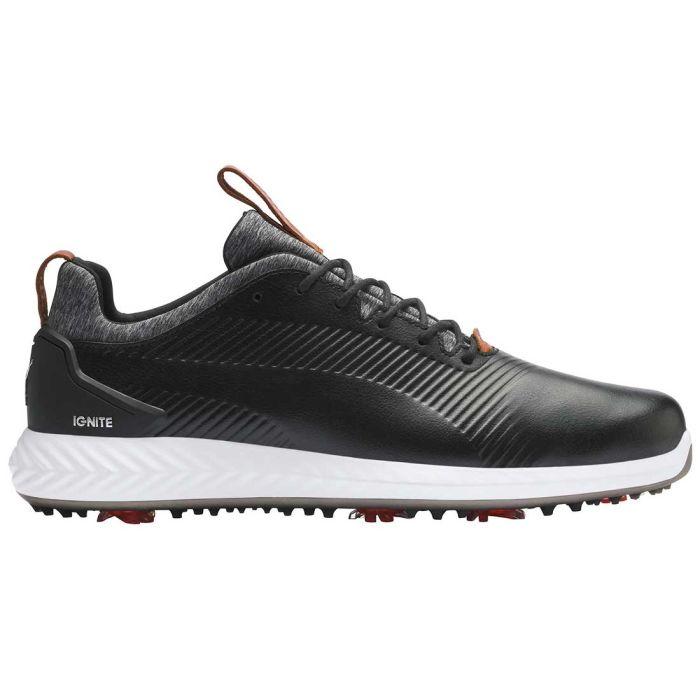 Puma Ignite PWRADAPT Leather 2.0 Golf Shoes Black