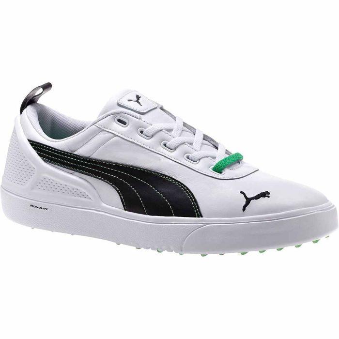 Puma Monolite NMW Golf Shoes White/Black/Bright Green