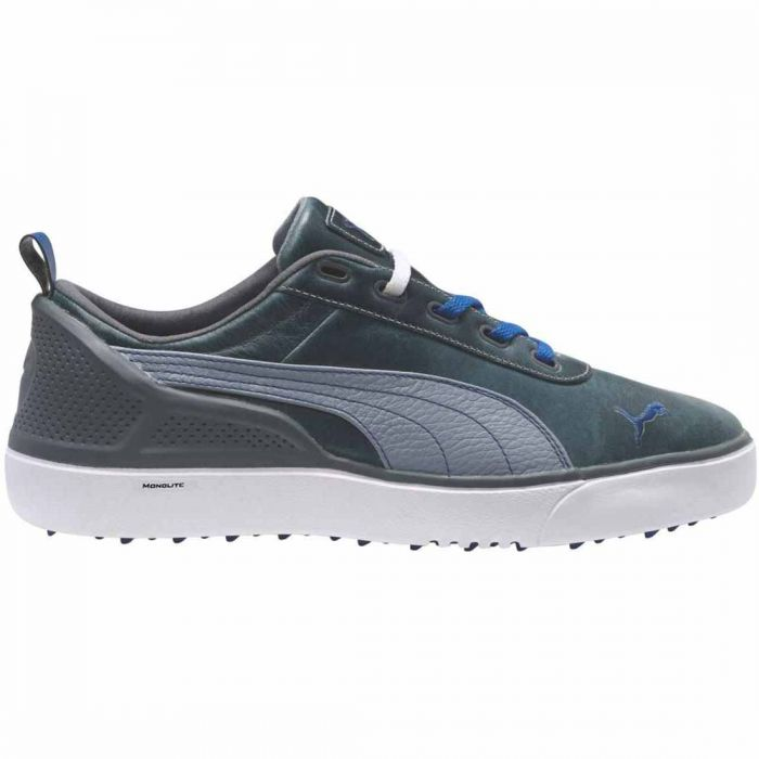 Puma Monolite Spikeless Golf Shoes Grey/White/Blue