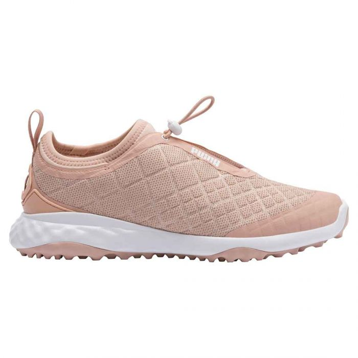Puma Women's Brea Fusion Sport Golf Shoes Cameo Rose/White