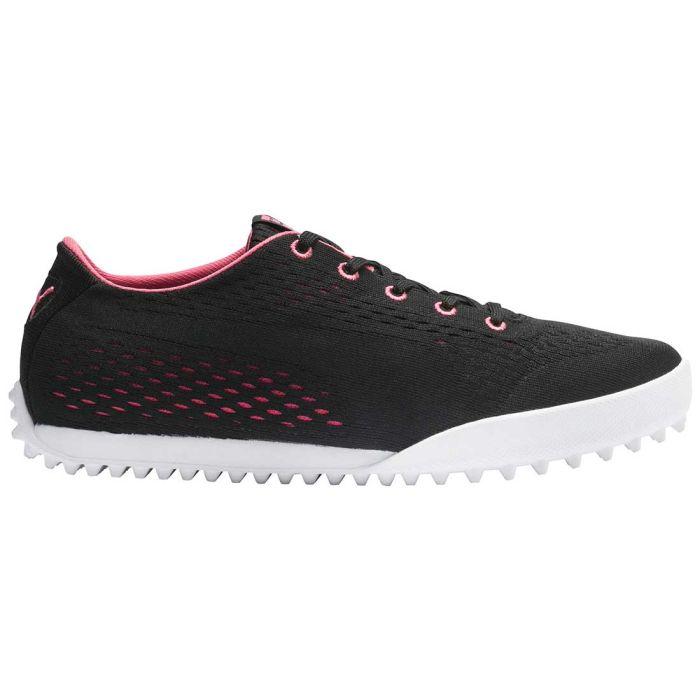 Puma Women's Monolite Cat EM Golf Shoes Black/Rapture Rose