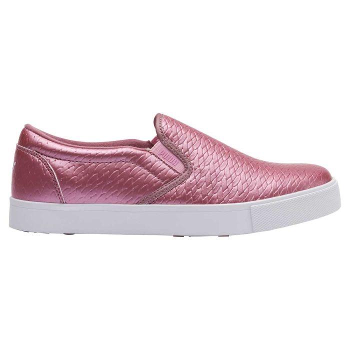 Puma Women's Tustin Slip-On Golf Shoes Metallic Pink