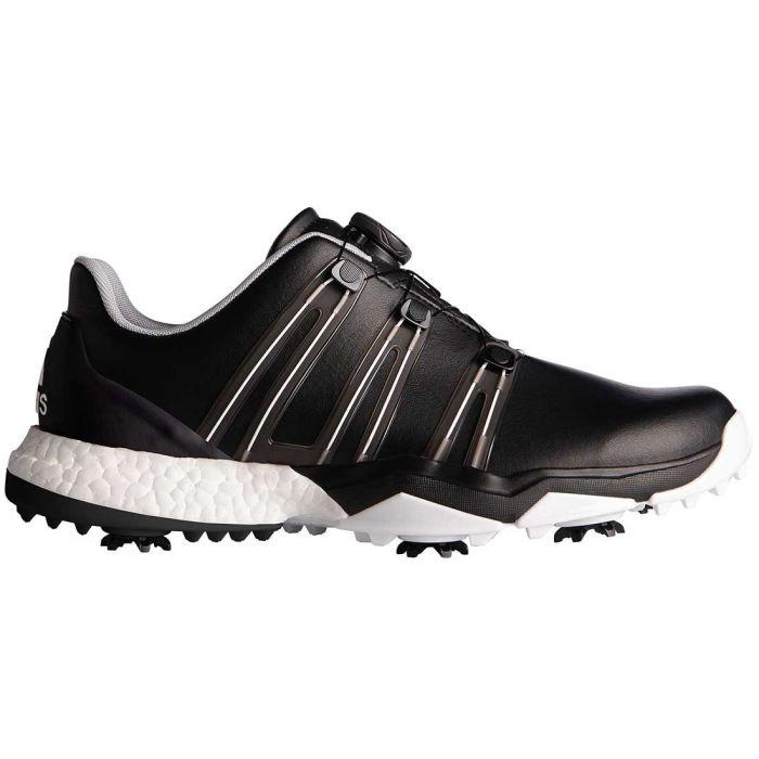 Adidas Powerband Boost Boa Golf Shoes Black/White