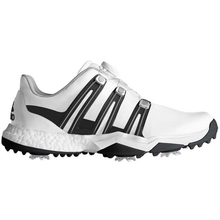 Adidas Powerband Boost Boa Golf Shoes White/Black