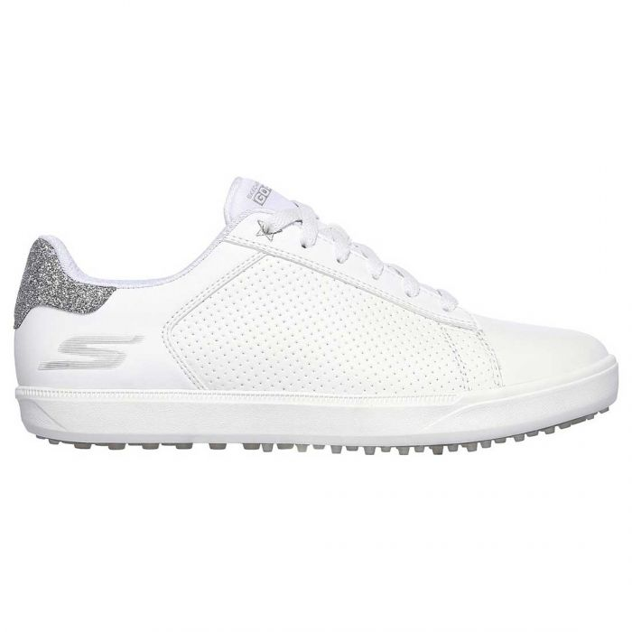 Skechers Women's GO GOLF Drive Shimmer Golf Shoes White/Silver