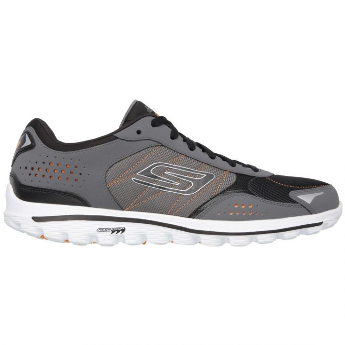 Skechers GOwalk 2 Lynx Ballistic Golf Shoes Charcoal/Orange