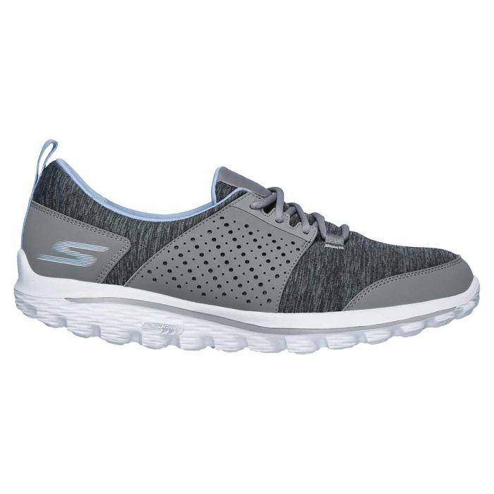Skechers Women's GOwalk 2 Sugar Golf Shoes Grey/Blue