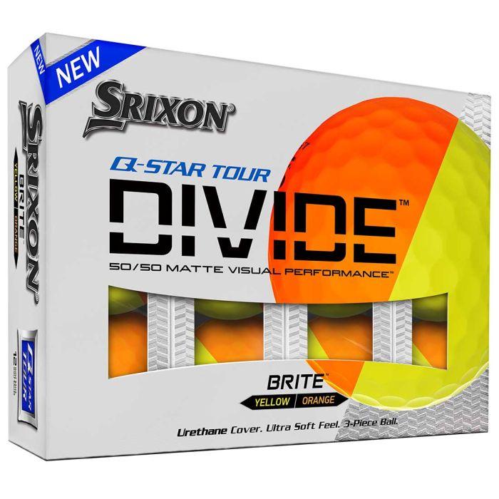 Srixon Q-Star Tour Divide Orange Golf Balls