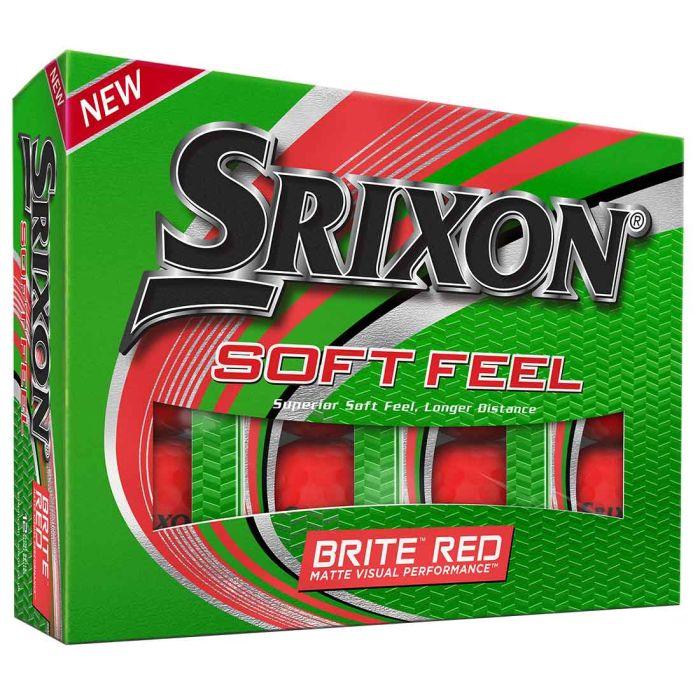 Srixon Soft Feel 12 Brite Red Golf Balls
