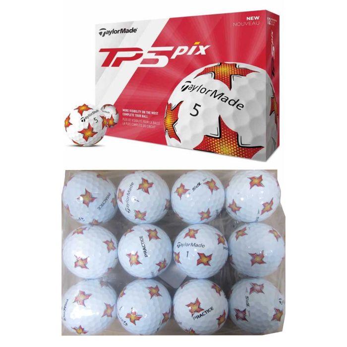 TaylorMade 2019 TP5 Pix Practice Bagged Golf Balls