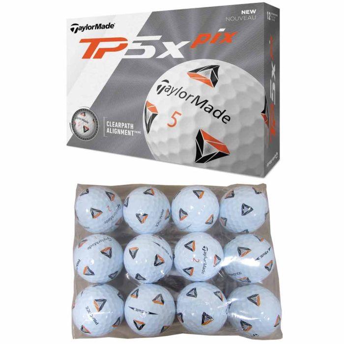 TaylorMade TP5x PIX 2.0 Practice Bagged Golf Balls