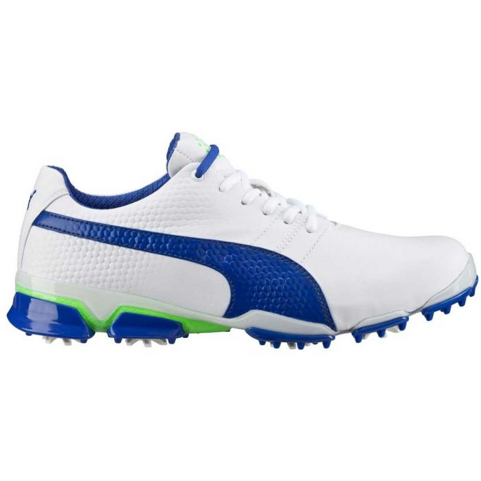 Puma TitanTour Ignite Golf Shoes White/Surf the Web/Green Gecko