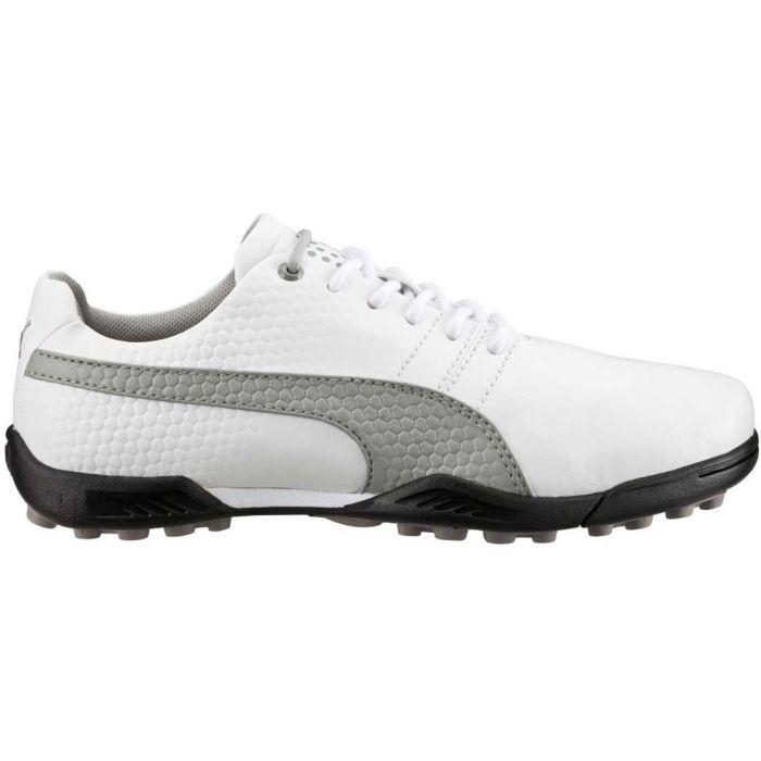 Puma TitanTour V2 Jr Golf Shoes White/Grey