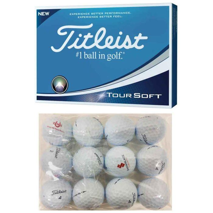 Titleist Tour Soft Logo Overrun Bagged Golf Balls