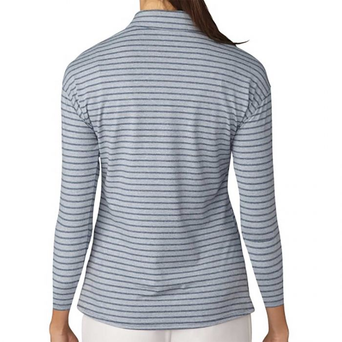Adidas Women's Tonal Stripe 3/4 Sleeve Polo