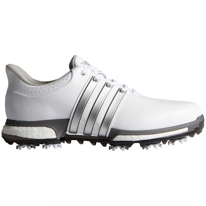 Adidas Tour360 Boost Golf Shoes White/Silver