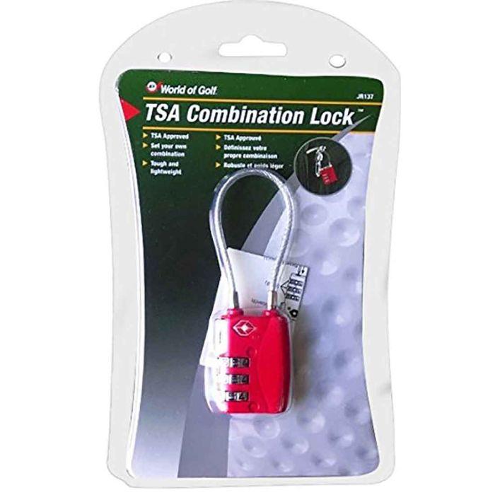 JEF World of Golf TSA Combination Lock