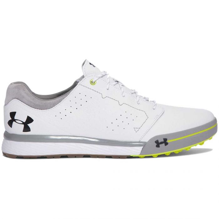 Under Armour Tempo Hybrid Golf Shoes White/High Vis Yellow