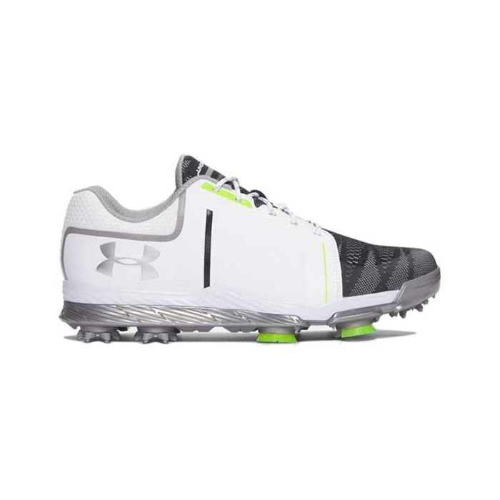 Under Armour Women's Tempo Sport Golf Shoes White/Steel/Lime
