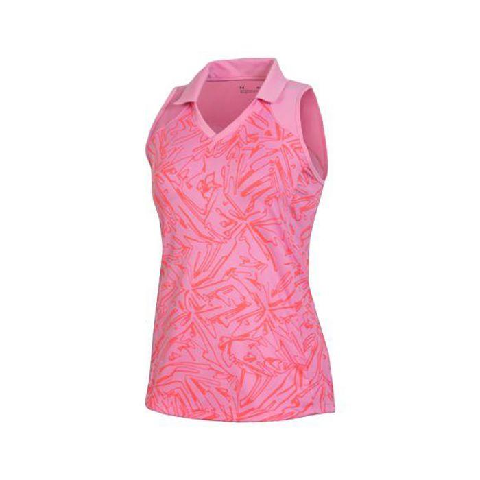 Under Armour Women's Trace Print Sleeveless Polo