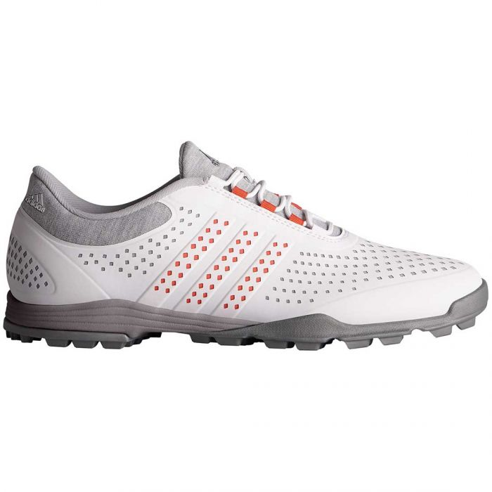 Adidas Women's AdiPure Sport Golf Shoes White/Grey/Coral