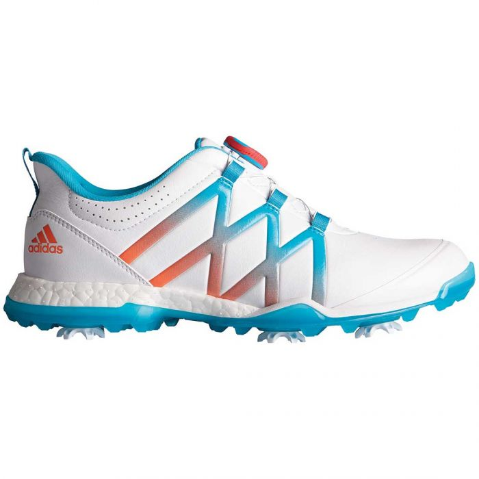 Adidas Women's AdiPower Boost Boa Golf Shoes White/Energy Blue