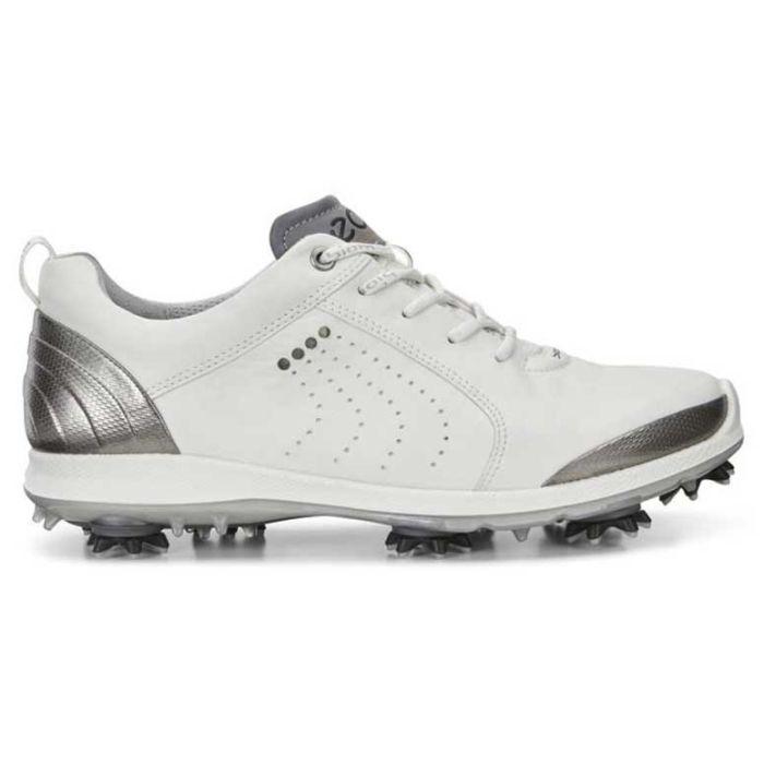 Ecco Women's BIOM G2 Free Golf Shoes White/Silver