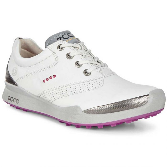 Ecco Women's BIOM Hybrid HM Golf Shoes White/Candy