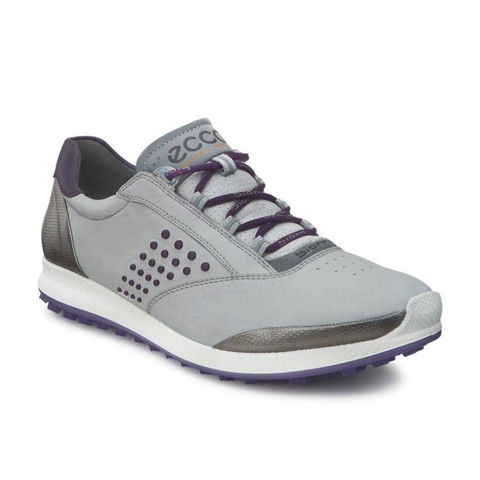 Ecco Women's BIOM Hybrid 2 Golf Shoes Grey/Purple
