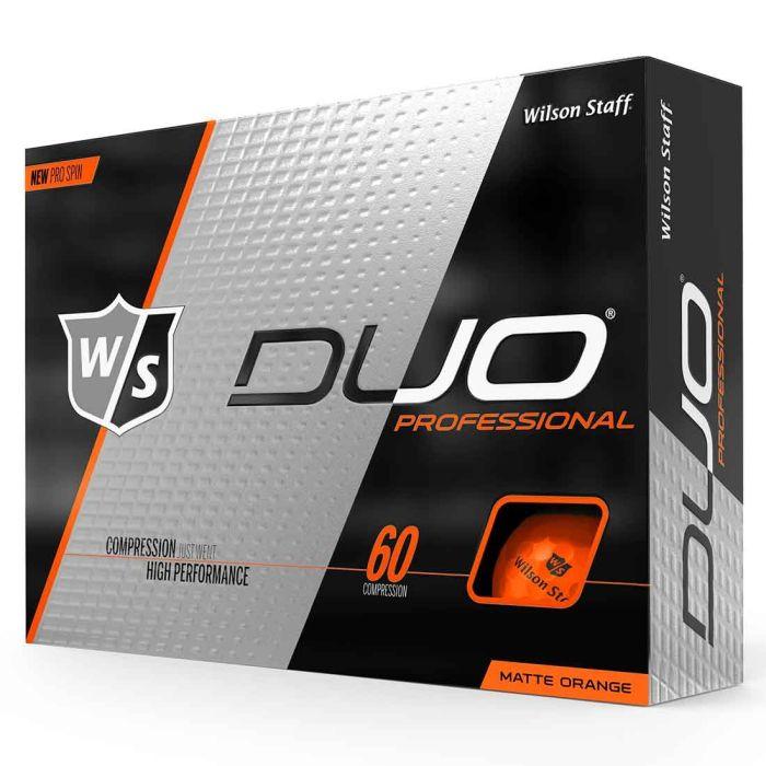Wilson Staff DUO Professional Orange Golf Balls