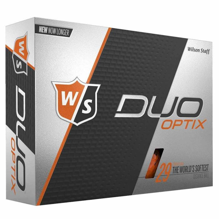 Wilson Staff DUO Soft Optix Orange Golf Balls