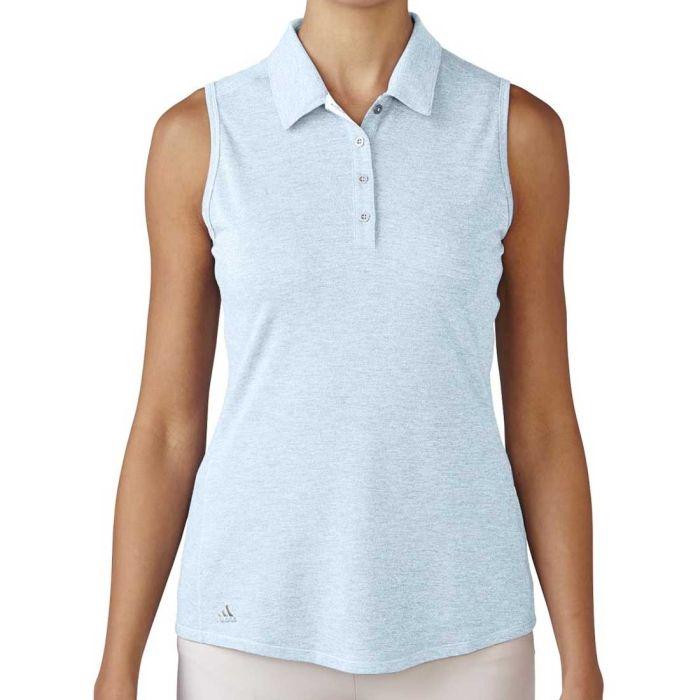 Adidas Women's Essentials Heather Sleeveless Polo