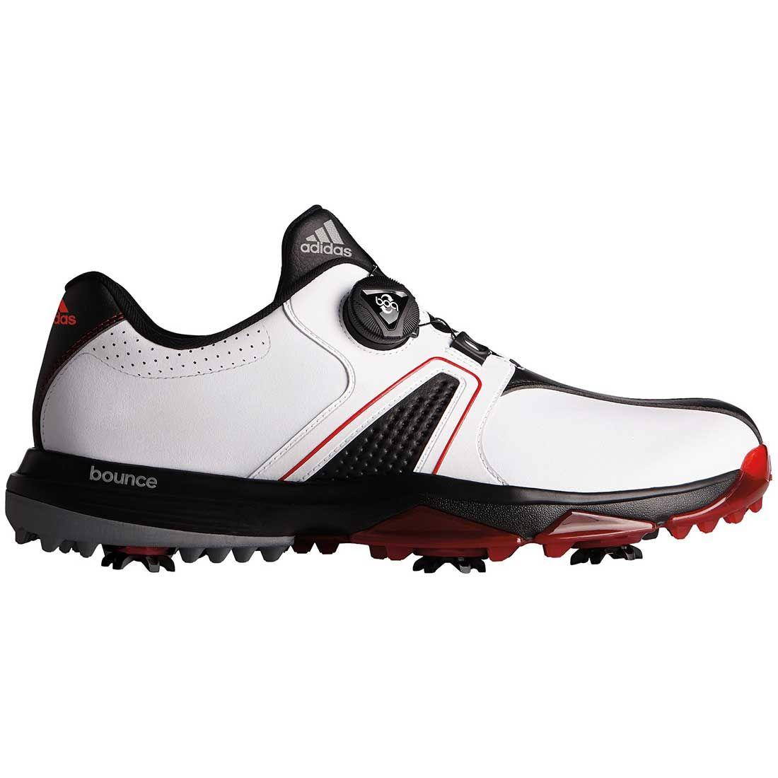 cartel Boda Más allá  Buy Adidas 360 Traxion Boa Golf Shoes White/Black/Red | Golf Discount
