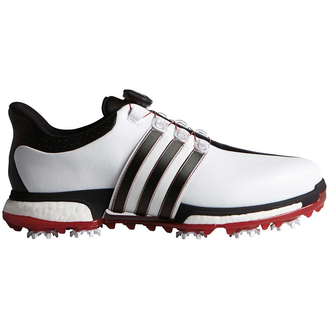 Buy Adidas Tour360 Boost Boa Golf Shoes White Black Red Golf Discount