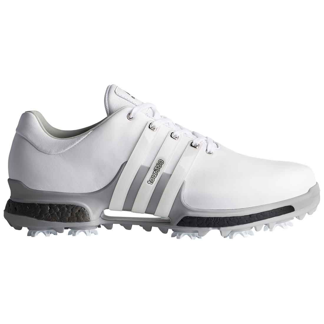 Buy Adidas Tour360 Boost 2 0 Golf Shoes White Trace Grey Golf Discount