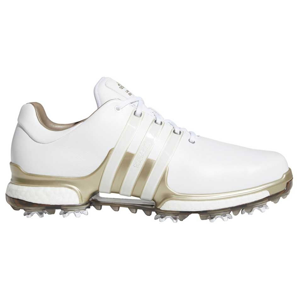 Traición Cuando itálico  Buy Adidas Tour360 Boost 2.0 Golf Shoes White/Gold | Golf Discount