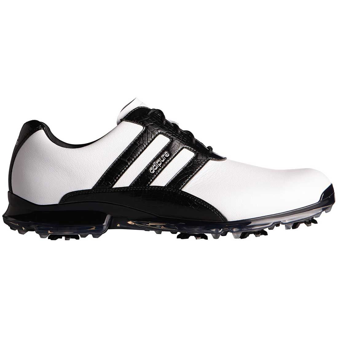 Buy Adidas AdiPure Classic Golf Shoes White/Black | Golf Discount