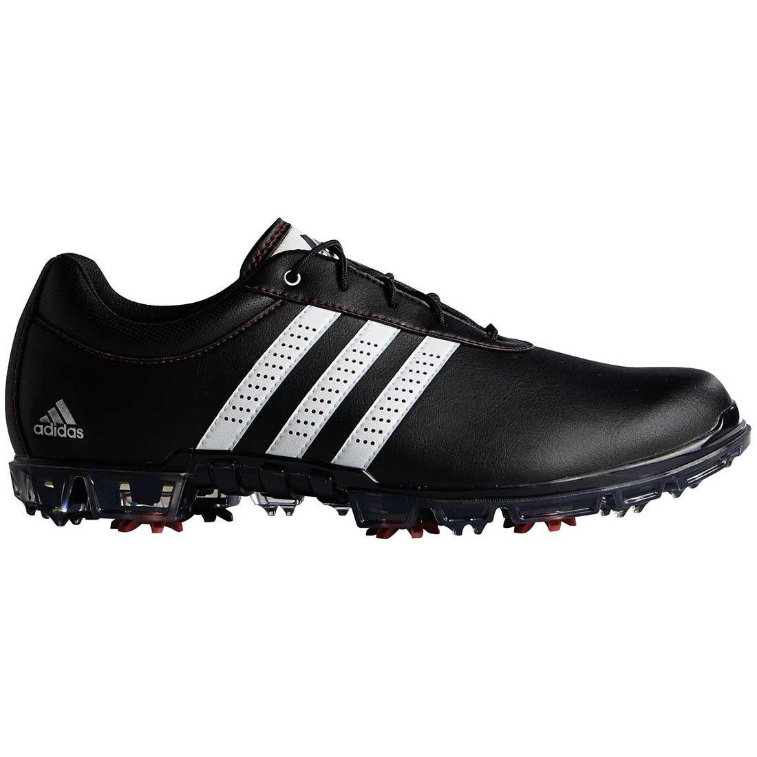 Buy Adidas AdiPure Flex Golf Shoes Black/White/Red | Golf Discount