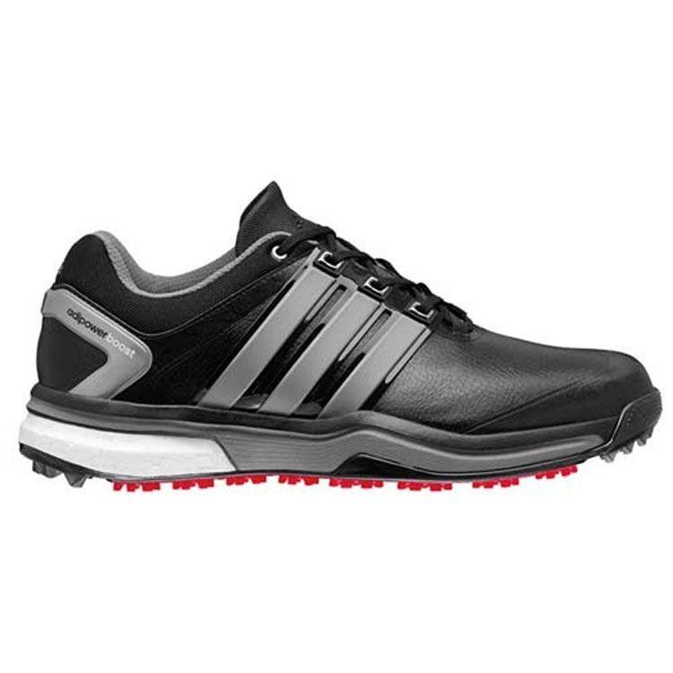 Buy Adidas AdiPower Boost Golf Shoes Black/Silver   Golf Discount