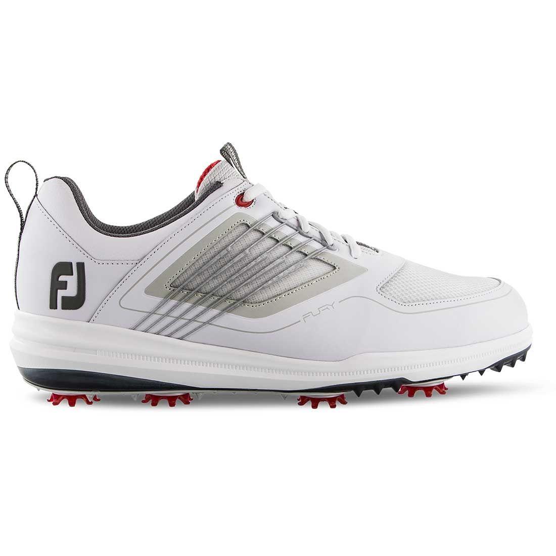FootJoy FJ Fury Golf Shoes White/Red