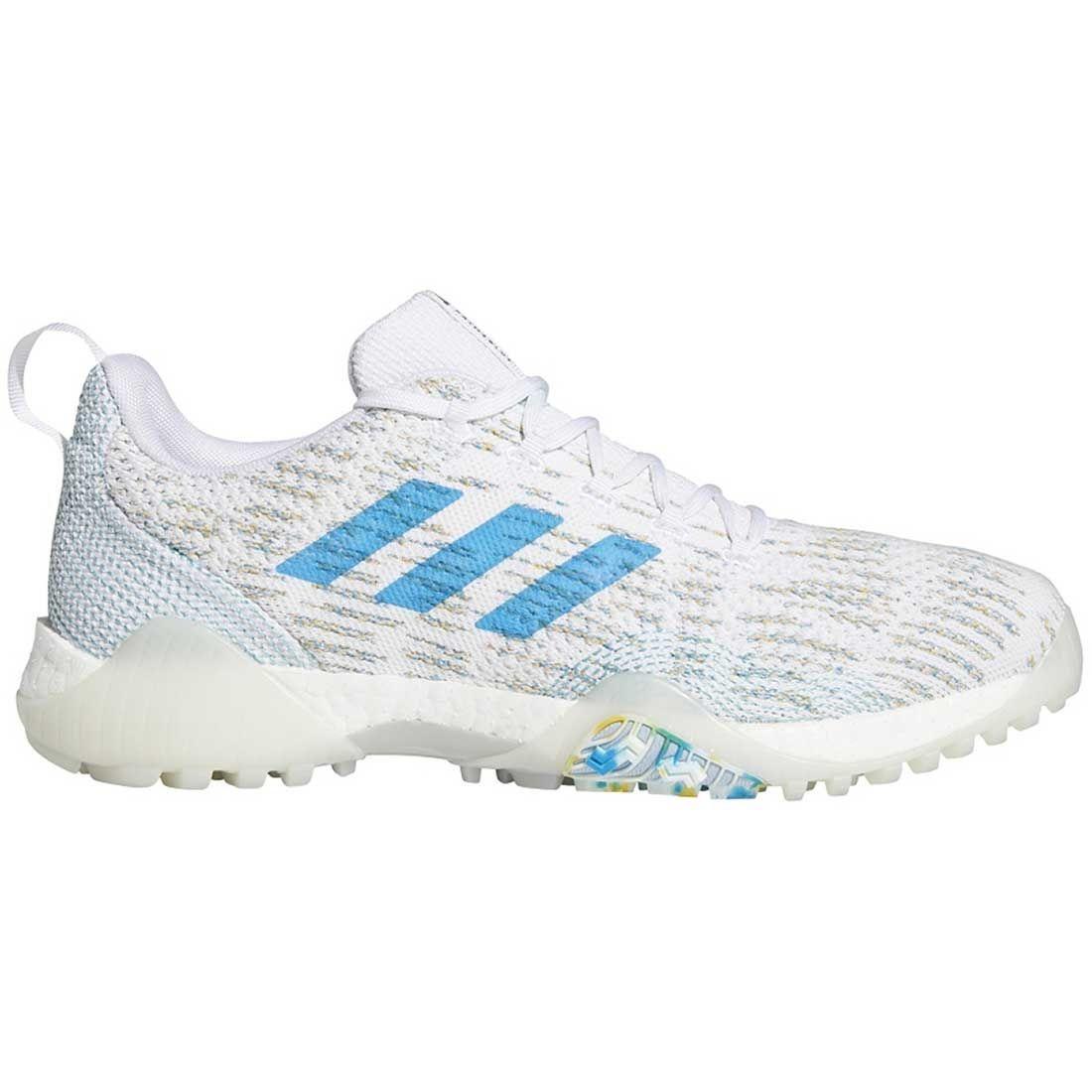 Buy Adidas Codechaos Primeblue Golf Shoes White Sharp Blue Golf Discount