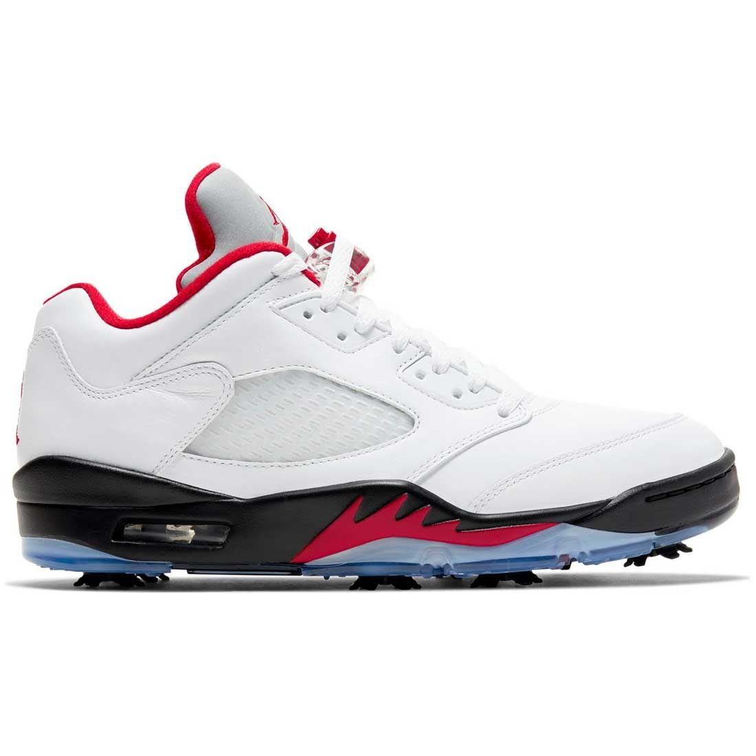 Compositor arpón Increíble  Buy Nike Air Jordan V Low Golf Shoes White/Fire Red | Golf Discount