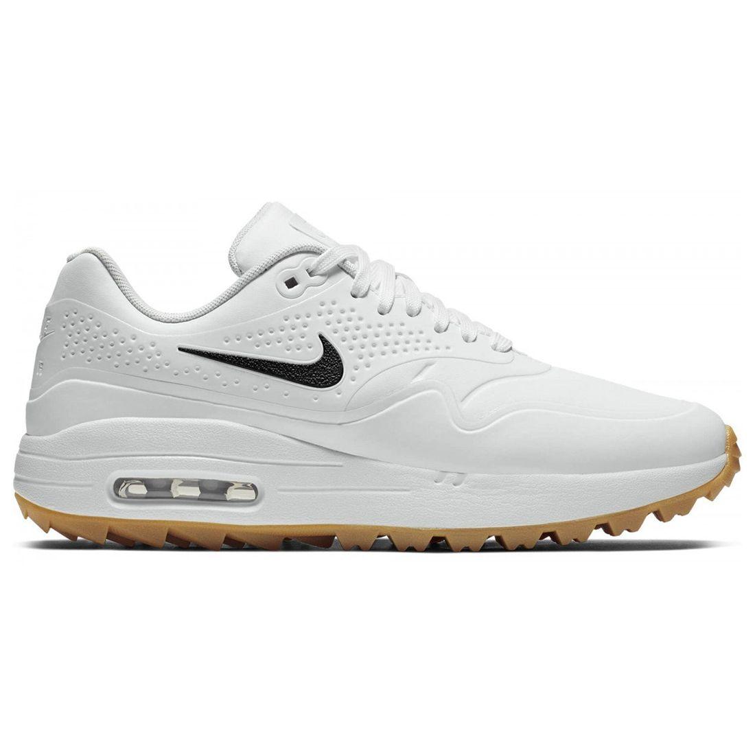 Buy Nike Air Max 1 G Golf Shoes White Gum Brown Golf Discount